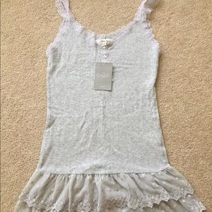 Anthropologie lace trim camisole tank (NWT) - XS